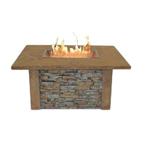 Sierra Firepit Table with Rectangle Burner