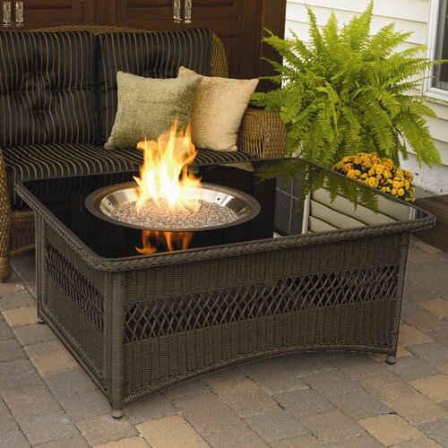The outdoor greatroom company naples coffee table with for Wayfair outdoor coffee table