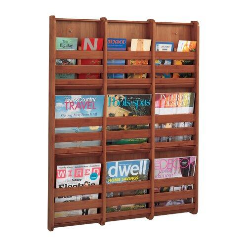 Cherry wood magazine rack wayfair