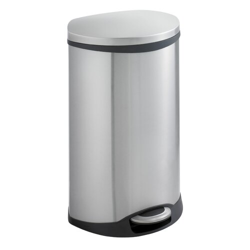 Safco Products Company 12.5-Gal. Ellipse Step-On Trash Receptacle