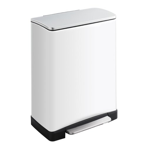 Safco Products Company Squared Step-On Trash Receptacle