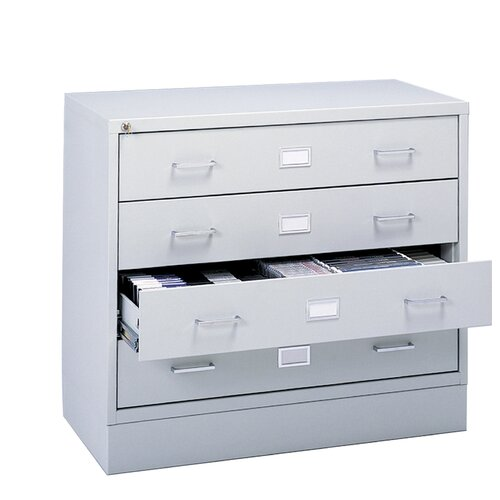 Safco Products Company Four-Drawer A/V Microform Storage Cabinet