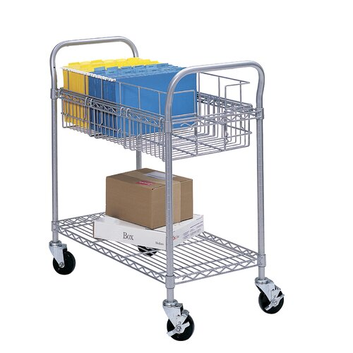 "Safco Products Company 38.5"" Wire Mail Cart"