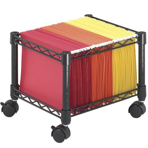 "Safco Products Company 12.5"" Mini Mobile Wire File Cart"