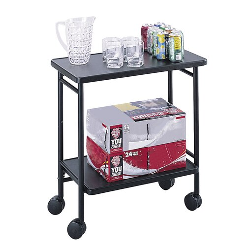"""Safco Products Company 30"""" Folding Office/Beverage Cart"""
