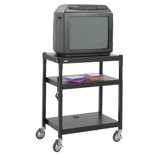 Adjustable Height TV Cart
