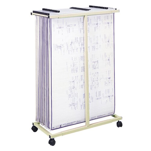 Mobile Vertical File Filing Cart