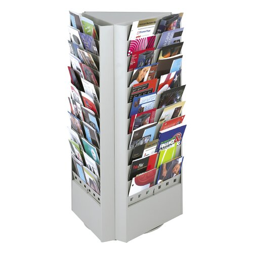 Safco Products Company 33 or 66 Pocket Rotary Brochure Rack