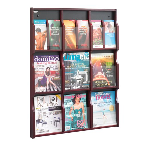 Safco Products Company Expose 9 Pocket Magazine/18 Pocket Pamphlet Display