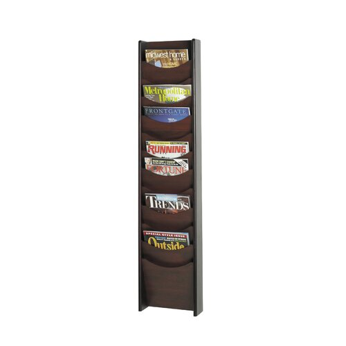 Safco Products Company 12 Pocket Wood Magazine Rack