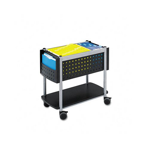 "Safco Products Company Scoot 26"" Open Top Mobile File Cart"