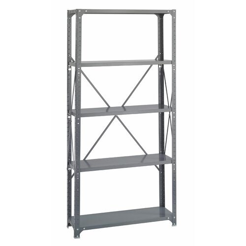 "Safco Products Company Commercial Steel 76"" H 5 Shelf Shelving Unit"