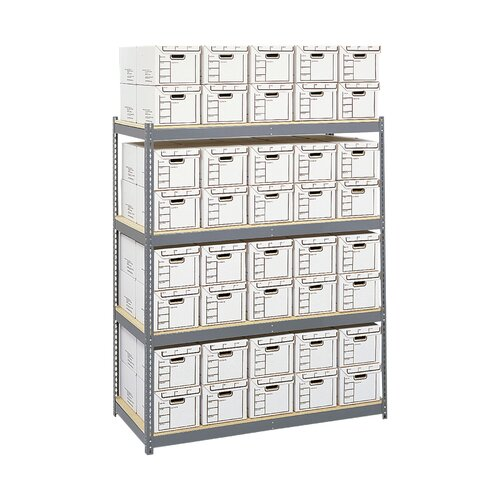 """Safco Products Company Archival 84"""" H 4 Shelf Shelving Unit"""