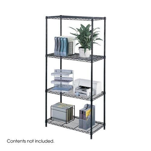 "Safco Products Company Industrial Wire 72"" H 4 Shelf Shelving Unit Starter"
