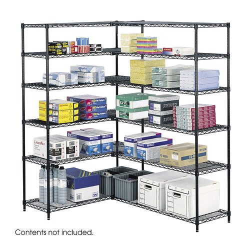 "Safco Products Company Industrial 72"" H 6 Shelf Shelving Unit Starter"