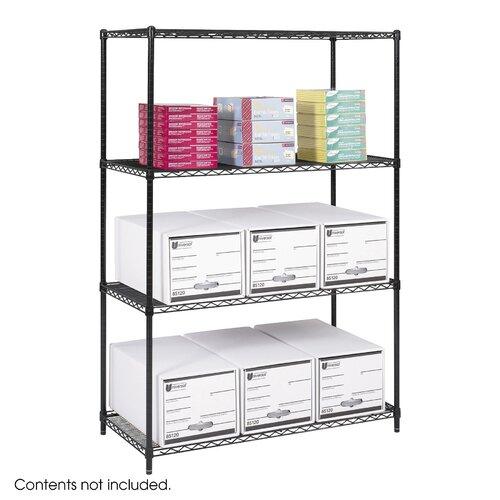 """Safco Products Company Industrial 72"""" H 4 Shelf Shelving Unit Starter"""