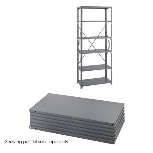"Safco Products Company Industrial 85"" H 6 Shelf Shelving Unit"