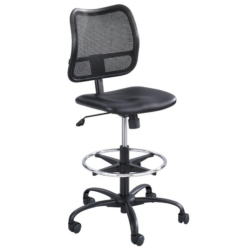 Safco Products Company Vue Series Mesh Extended Height Chair, Vinyl Seat