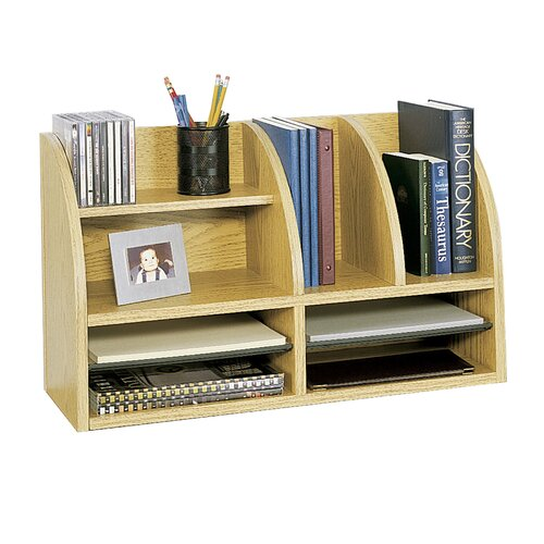 Safco Products Company Radius Front Eight Compartment Desktop Organizer