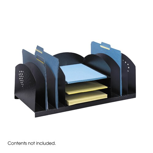 Safco Products Company Combination Desk Rack 6 Upright/ 3 Horizontal