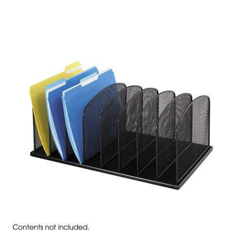 Safco Products Company Mesh Desk Organizer, Eight Sections