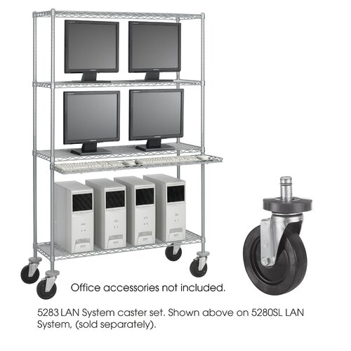 Safco Products Company Caster Kit for Wire LAN Management System