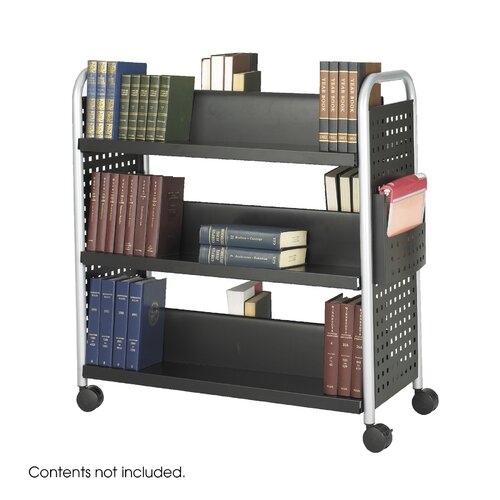 Safco Products Company Scoot Book Cart, 6-Shelf