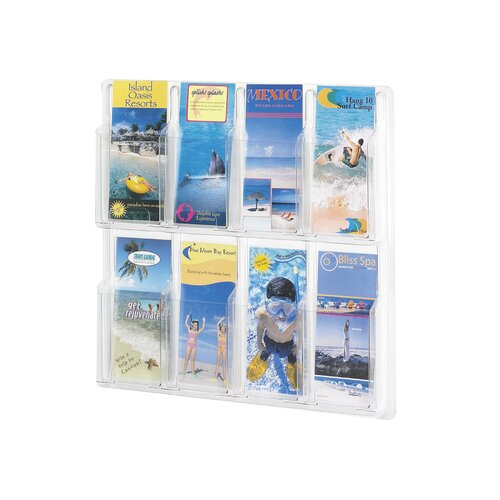 Safco Products Company Reveal Clear Literature Displays, 8 Compartments
