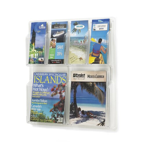 Safco Products Company 6 Pocket Magazine Rack