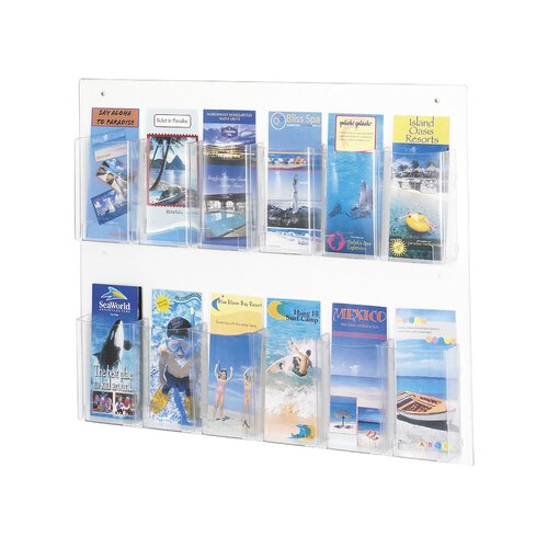 Safco Products Company Safco Pamphlet Rack with 12 Pockets