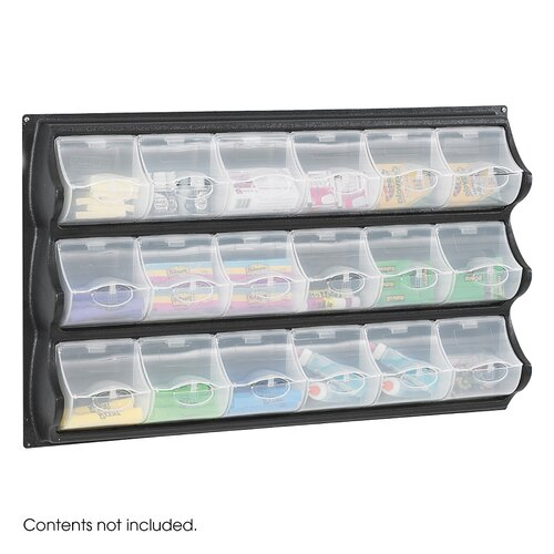 Safco Products Company Polypropylene Panel Storage with 18 Bins