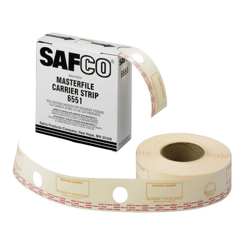 Safco Products Company MasterFile 2 Film Laminate Strips