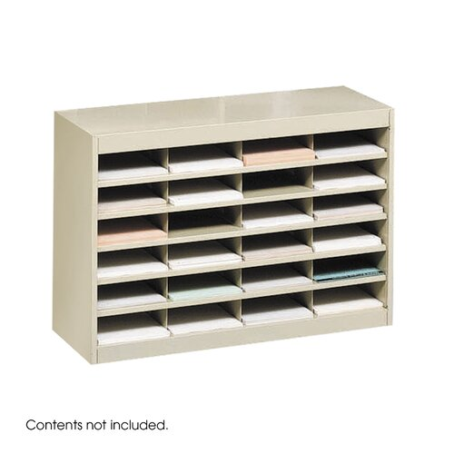 Safco Products Company Steel Literature Organizer with 24 Letter-Size Compartments