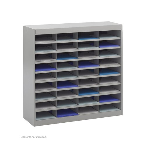 Safco Products Company Steel Literature Organizer with 36 Letter-Size Compartments