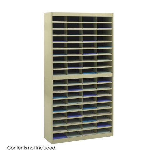 Safco Products Company Steel Literature Organizer with 72 Letter-Size Compartments