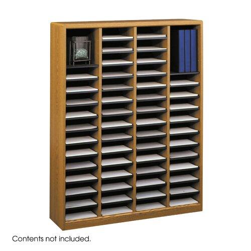 """Safco Products Company E-Z Store Wood 52 1/4"""" Literature Organizer"""
