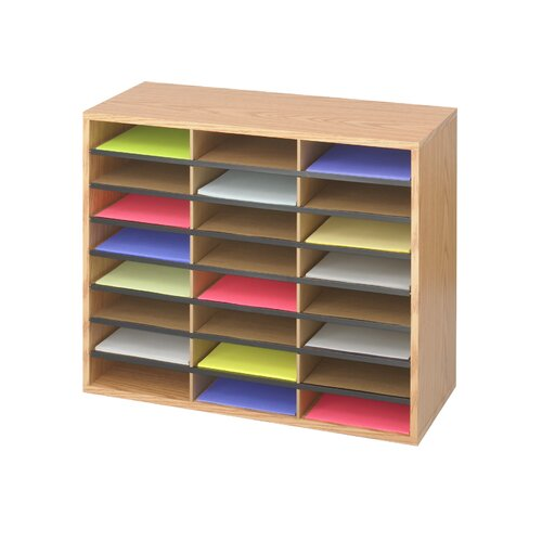 Safco Products Company Medium Wood/Corrugated Literature Organizer