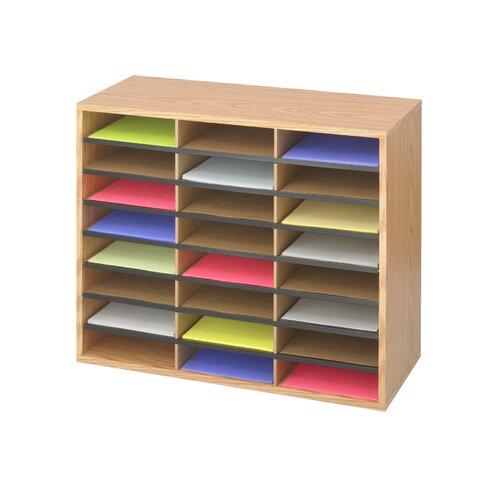 Safco Products Company Medium Wood/Corrugated Literature Organizer