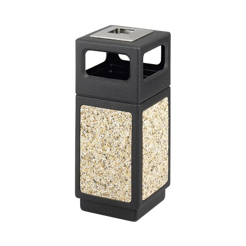 Safco Products Company Canmeleon Ash/Trash Square Receptacle, 15 Gal