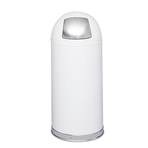Safco Products Company Dome Round Receptacle with Spring-Loaded Door