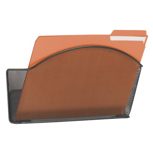 Safco Products Company Onyx Steel Wall Pocket, Letter