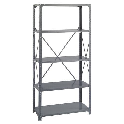 "Safco Products Company Commercial 75"" H 5 Shelf Shelving Unit Starter"