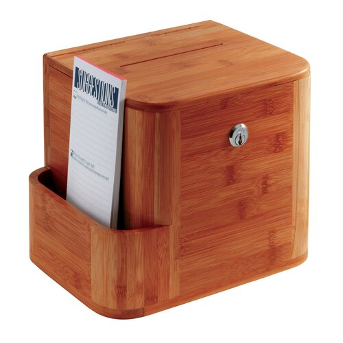 Safco Products Company Bamboo Suggestion Box