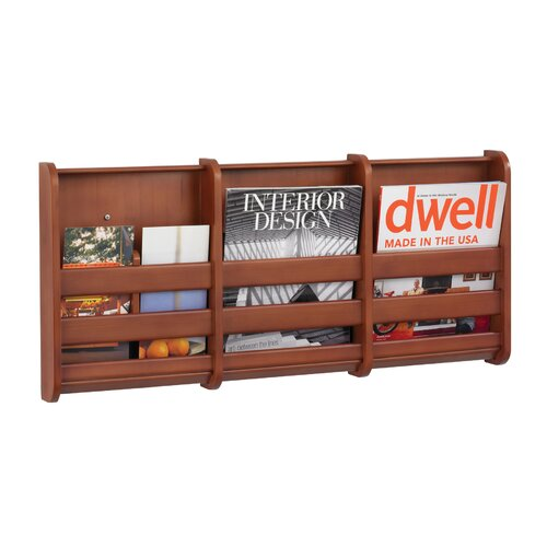 Safco Products Company Bamboo Magazine Wall Rack