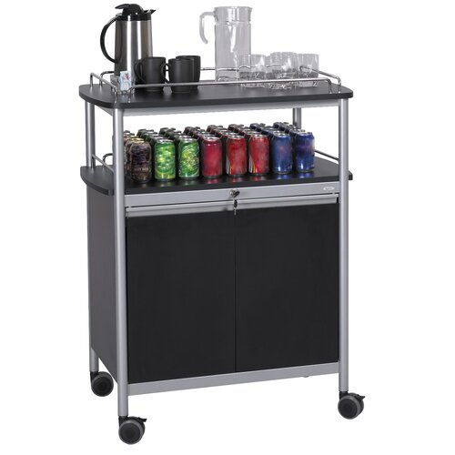 """Safco Products Company 43"""" Mobile Beverage Cart"""