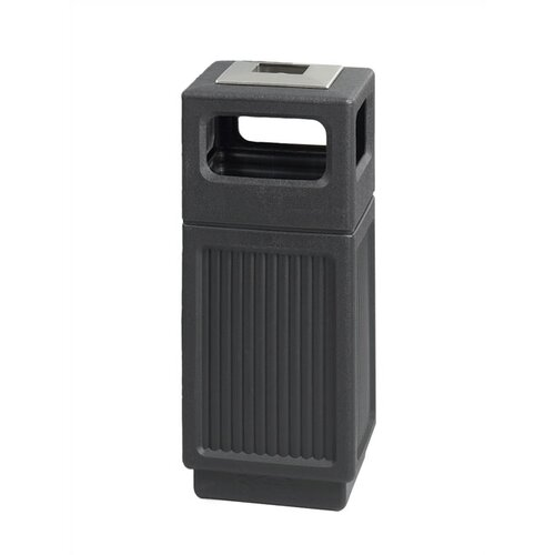 Safco Products Company Canmeleon Ash/Trash Square Receptacle, Polyethylene, 15 Gal