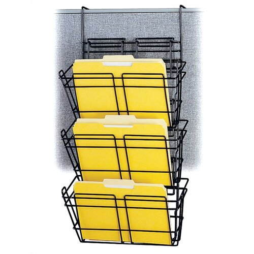 Safco Products Company Panelmate Triple-File Basket Organizer