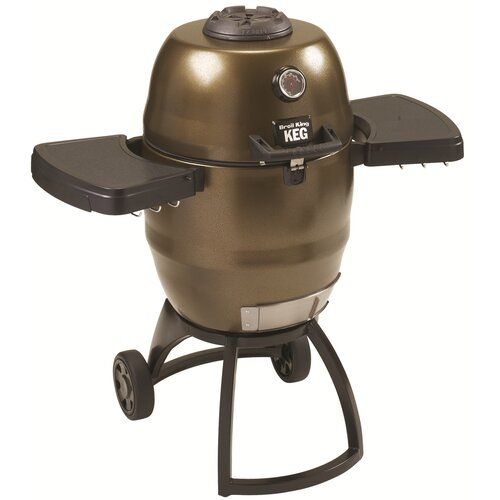 "Broil King 41"" Keg Kamado Charcoal Grill with Large Wheels"