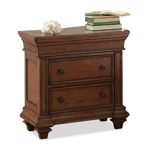 Woven wood nightstand wayfair