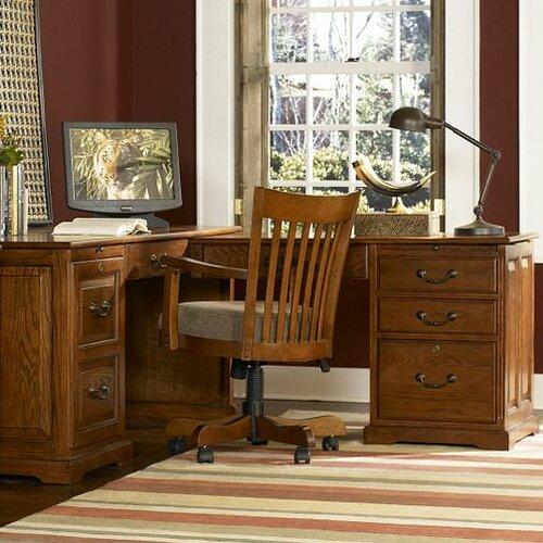 Riverside Furniture Seville Square L-Shape Desk Office Suite